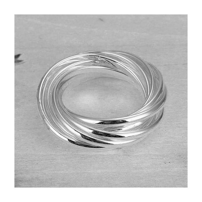 Schlichter versilberter Ring aus mehreren Ringen als Modeschmuck Fingerring
