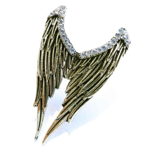 Antikgoldfarben Engelsflügel Ring mit Strass als Modeschmuck Fingerring