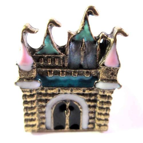 Ring in antikgoldfarben mit Schloss Motiv als Modeschmuck Fingerring