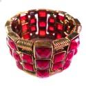 Dunkelrotes Armband als Modeschmuck