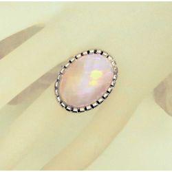 Hellrosa opalähnlicher Ring Modeschmuck Fingerring