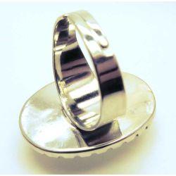 Ovaler weißer Schnee Ring Modeschmuck Fingerring