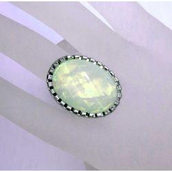 Weißer opalähnlicher Ring Modeschmuck Fingerring
