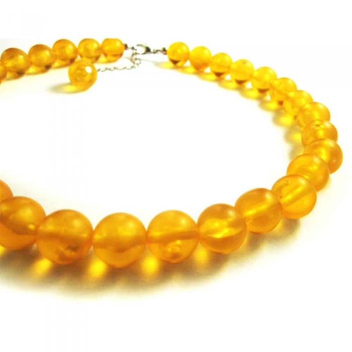 Orange Halskette mit Polaris Perlen Modeschmuck Halskette