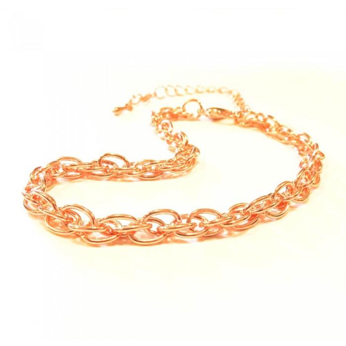 Filigranes rosegoldfarbenes Armband als Modeschmuck Armband