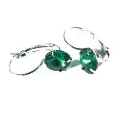 Grüne Strass Brisuren grüne Durchzieher Stein Durchmesser 8mm Modeschmuck Ohrringe