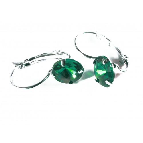 Grüne Strass Brisuren Durchzieher Stein Durchmesser 8mm Modeschmuck Ohrringe