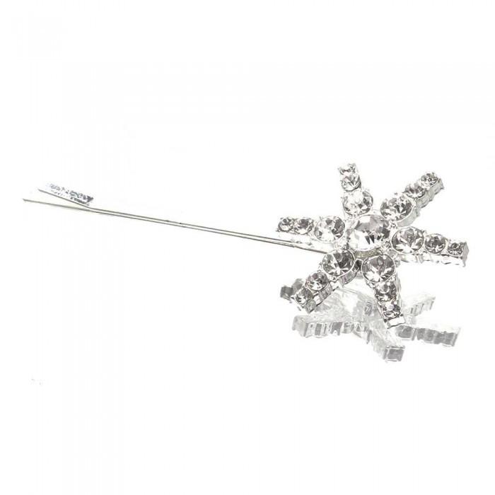 Haarspange mit Strassstern Durchmesser 28mm Modeschmuck Haarschmuck