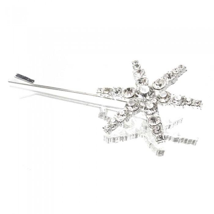 Haarspange mit Strassstern Durchmesser 40mm Modeschmuck Haarschmuck