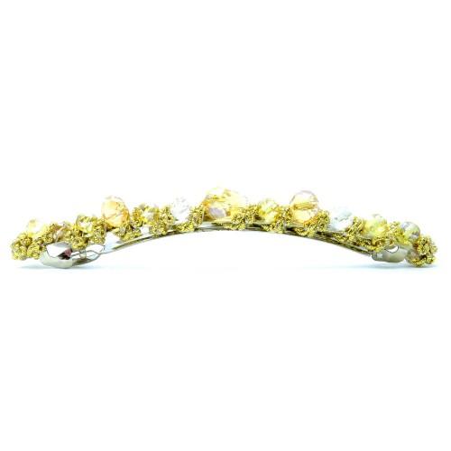 Gold-champagnerfarbene Haarspange 105x8mm Modeschmuck Haarschmuck