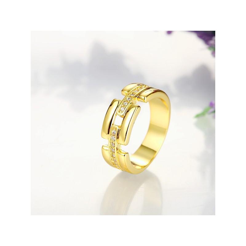 Modeschmuck gold ring  Gold Ring mit transparenten Zirkonen als Modeschmuck Fingerring